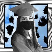 student graduating during pandemic