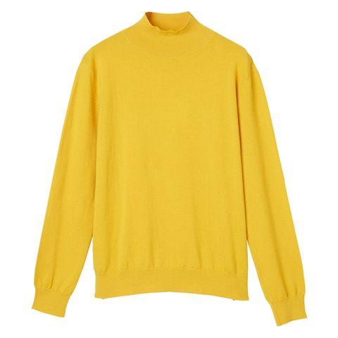 Clothing, Yellow, Sleeve, Neck, Outerwear, Long-sleeved t-shirt, Orange, Sweater, Blouse, T-shirt,