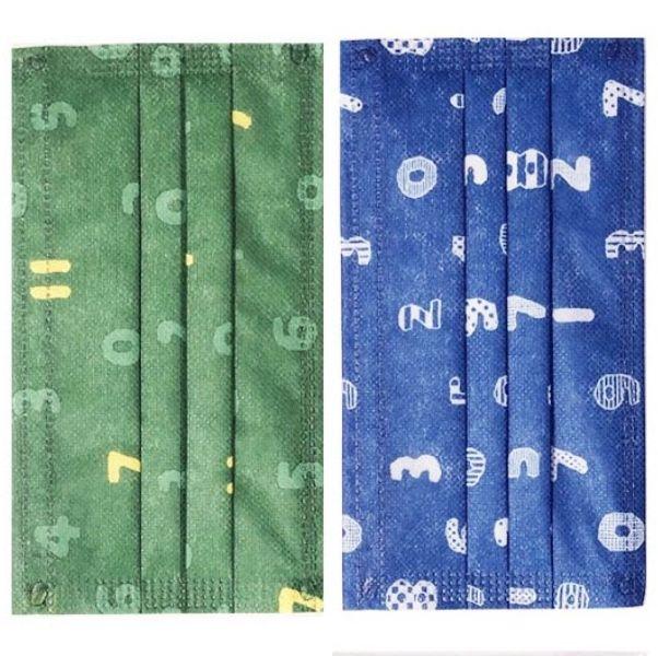 綠色和藍色的數字口罩