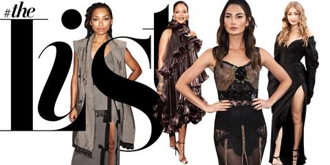 Clothing, Fashion model, Fashion, Dress, Fashion design, Gothic fashion, Little black dress, Model, Style, Black hair,