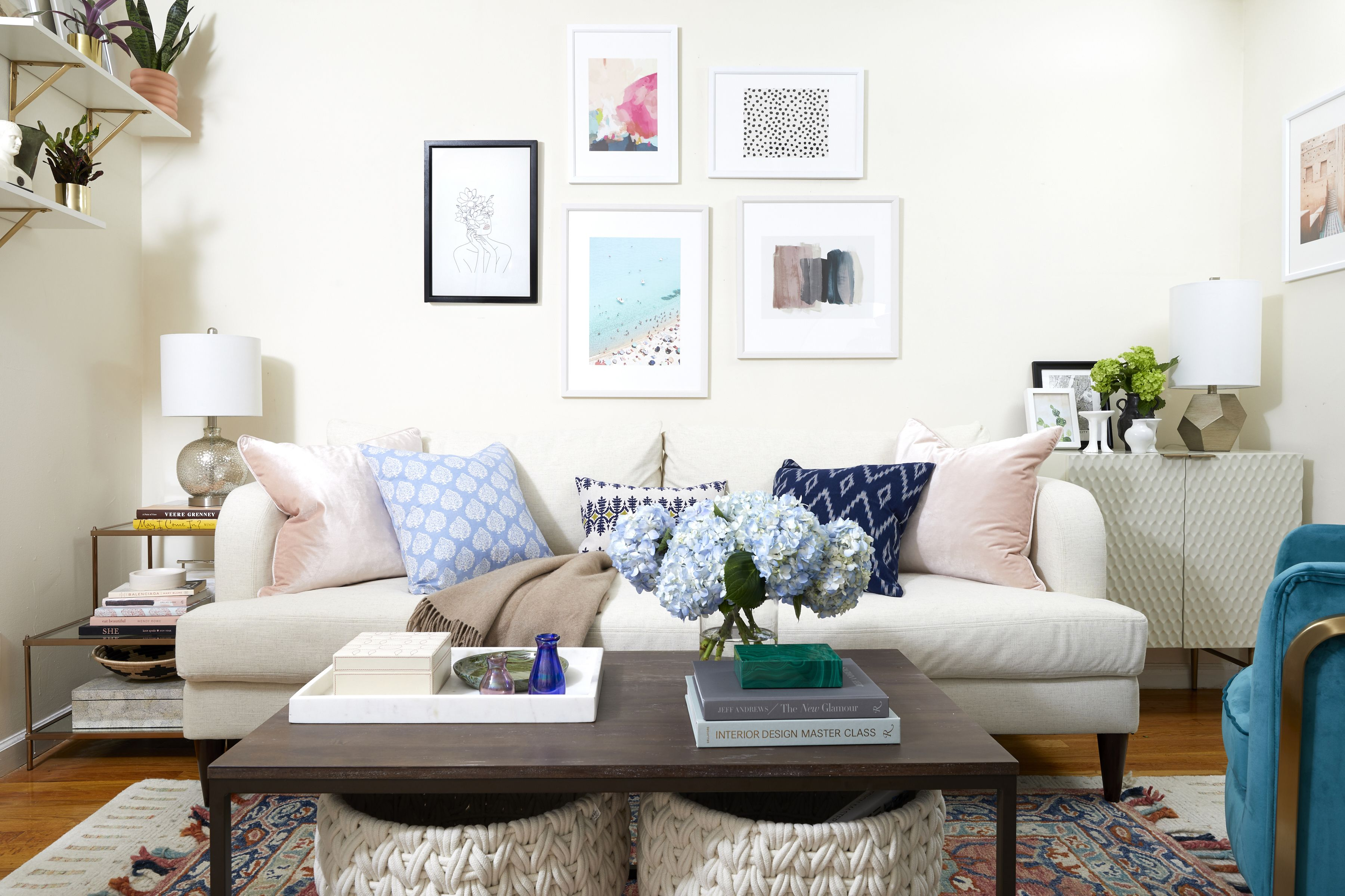 House Beautiful & 6 Tricks to Make a Dark Room Feel Bright - Windowless Room Ideas