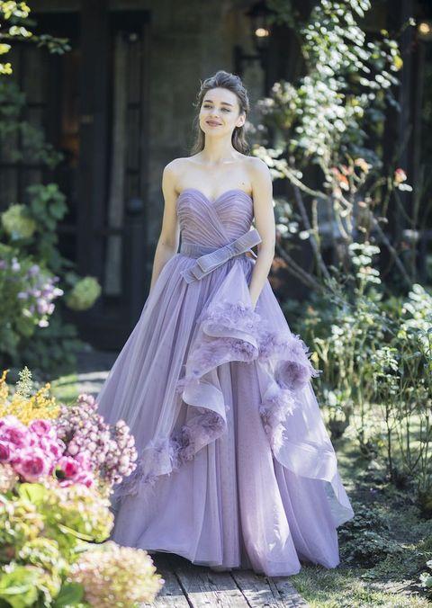 グランマニエのニュアンスパープルのカラードレス