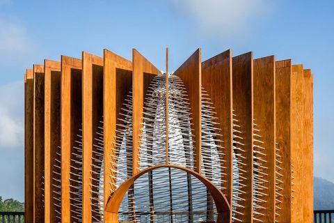 Architecture, Landmark, Iron, Composite material, Metal, Urban design, Symmetry, Engineering, Building material, Tower block,