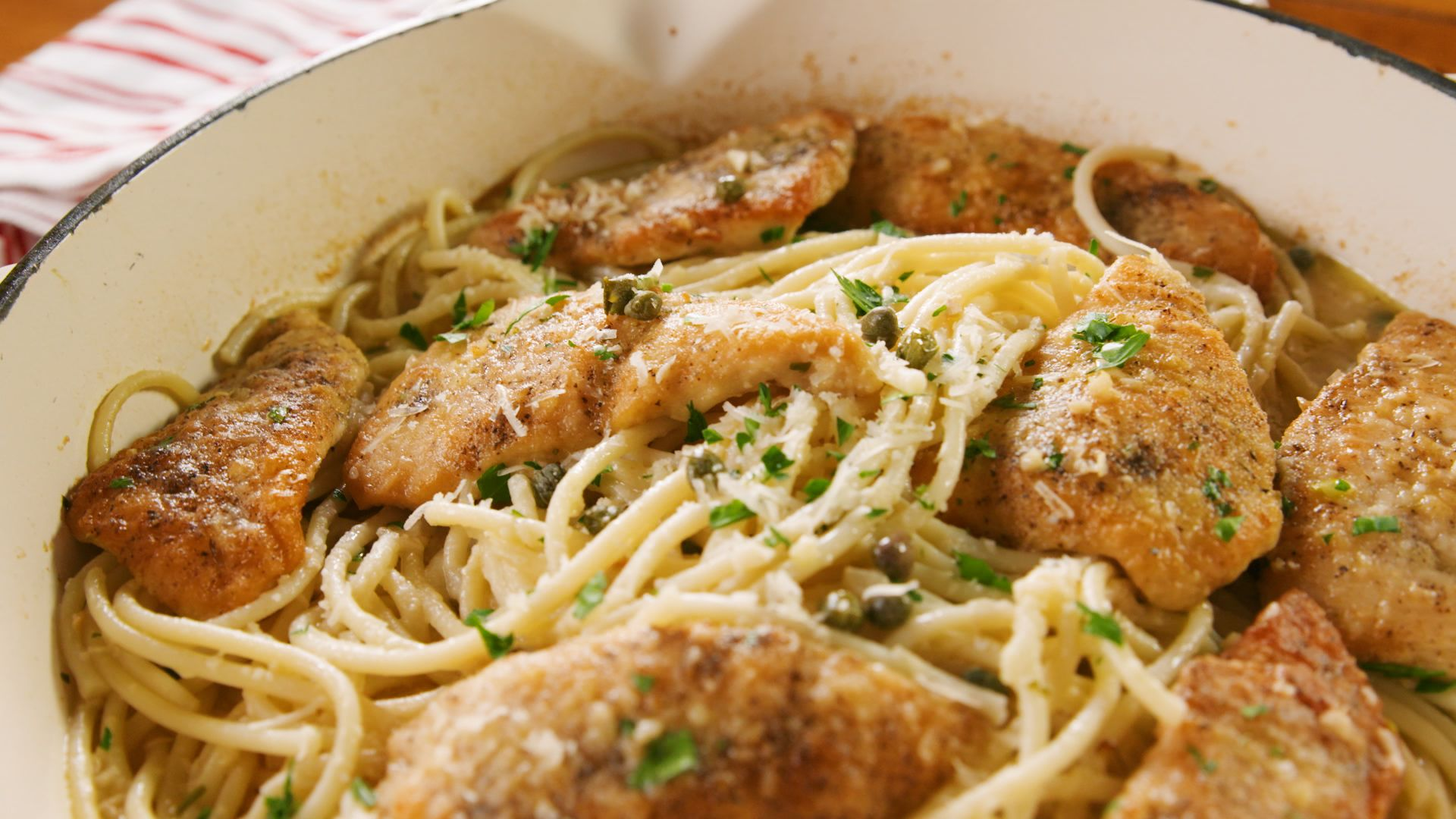 Chicken Piccata Two Ways