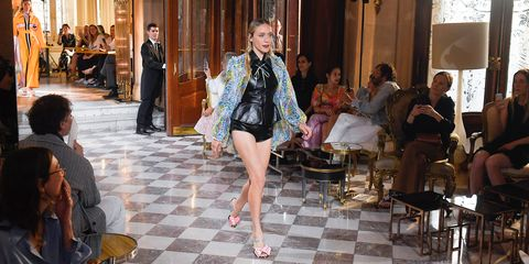 9873739c Chloë Sevigny Walked in Miu Miu's Star-Studded Resort 2019 Show ...