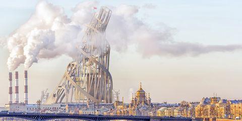 Landmark, Sky, Vehicle, City, Architecture, World, Watercraft, Metropolis, Oil rig,