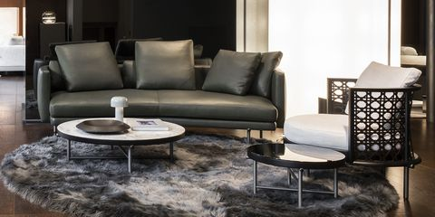 Interior design, Floor, Room, Furniture, Wall, White, Couch, Living room, Table, Style,