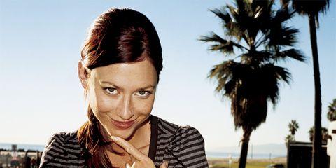 Tongue Health: Woman outside