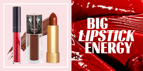 Red, Lipstick, Cosmetics, Product, Beauty, Lip care, Lip, Material property, Ammunition, Brand,