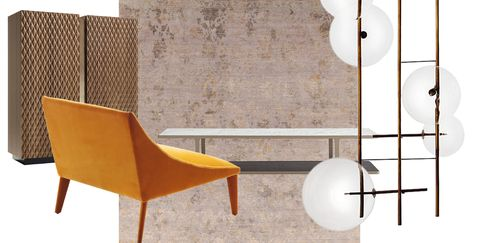 Orange, Tile, Product, Furniture, Floor, Table, Wall, Room, Plywood, Interior design,