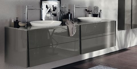 Sink, Bathroom sink, Bathroom, Bathroom cabinet, Tap, Plumbing fixture, Room, Furniture, Bathroom accessory, Floor,