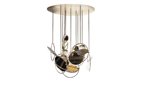 Ceiling, Ceiling fixture, Lighting, Light fixture, Chandelier, Beige, Interior design, Metal, Lamp,