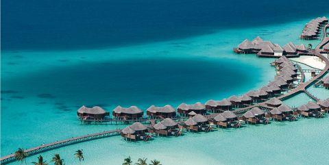 Artificial island, Island, Lagoon, Coastal and oceanic landforms, Tropics, Tourism, Resort, Sea, Vacation, Landscape,
