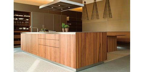 Countertop, Cabinetry, Furniture, Kitchen, Room, Property, Interior design, Plywood, Floor, Cupboard,