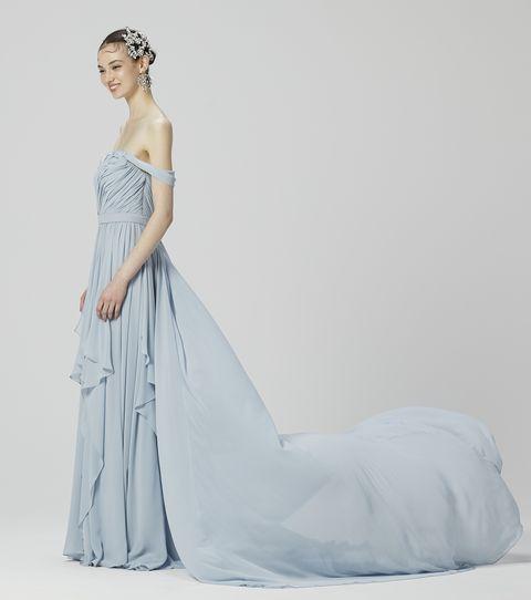 ミラーミラーのシャーベットカラードレス