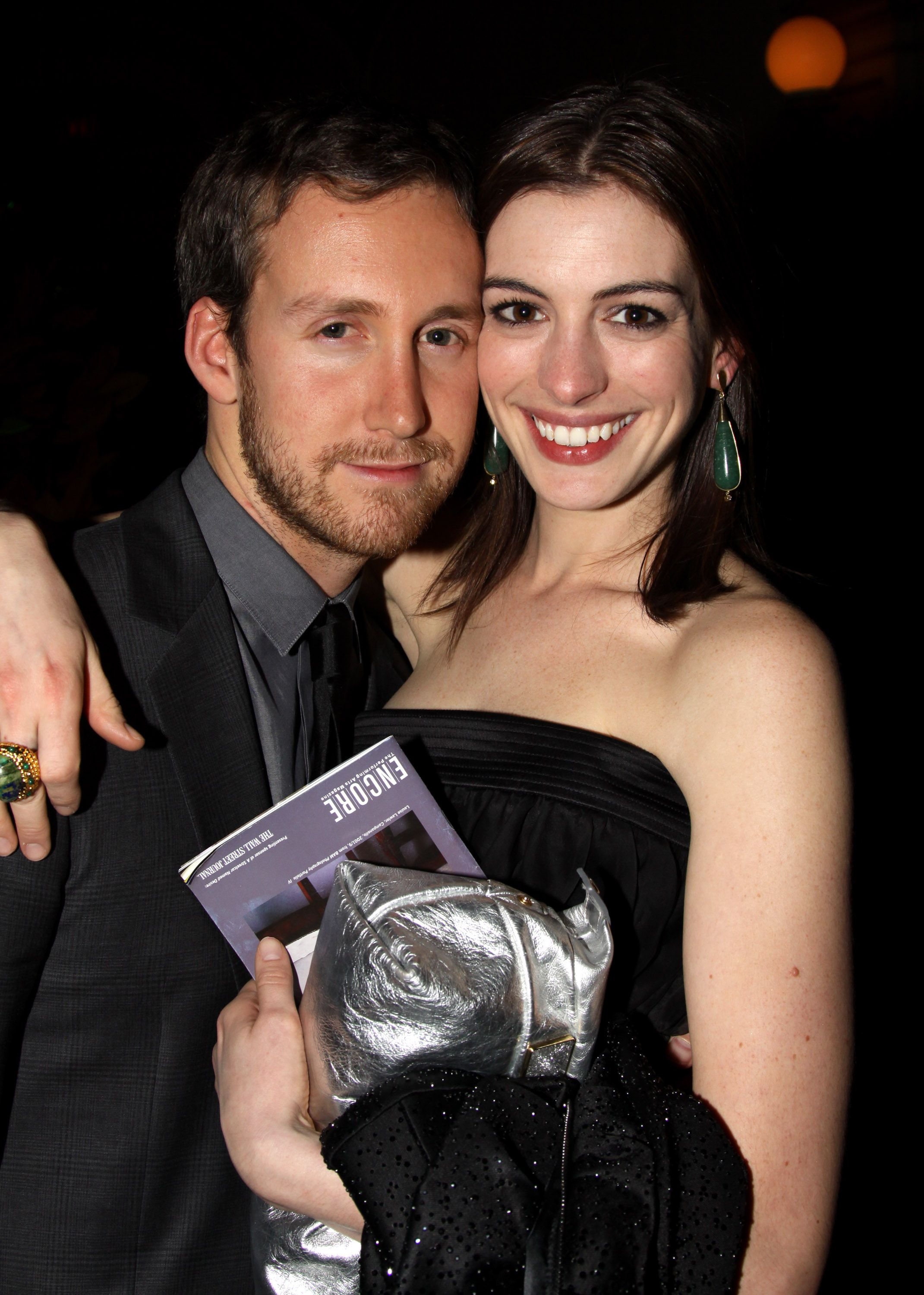 Anne Hathaway and Adam Shulman The couple were introduced by a mutual friend at the Palm Springs Film Festival in 2008. The two have been married since 2012 and have a son together, so I guess you could say things worked out nicely.