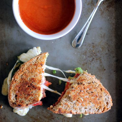 turkey grilled cheese and tomato soup