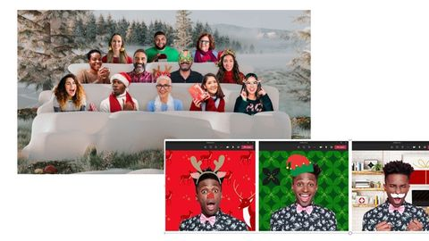 get festive and throw a holiday party with microsoft's 'together mode'