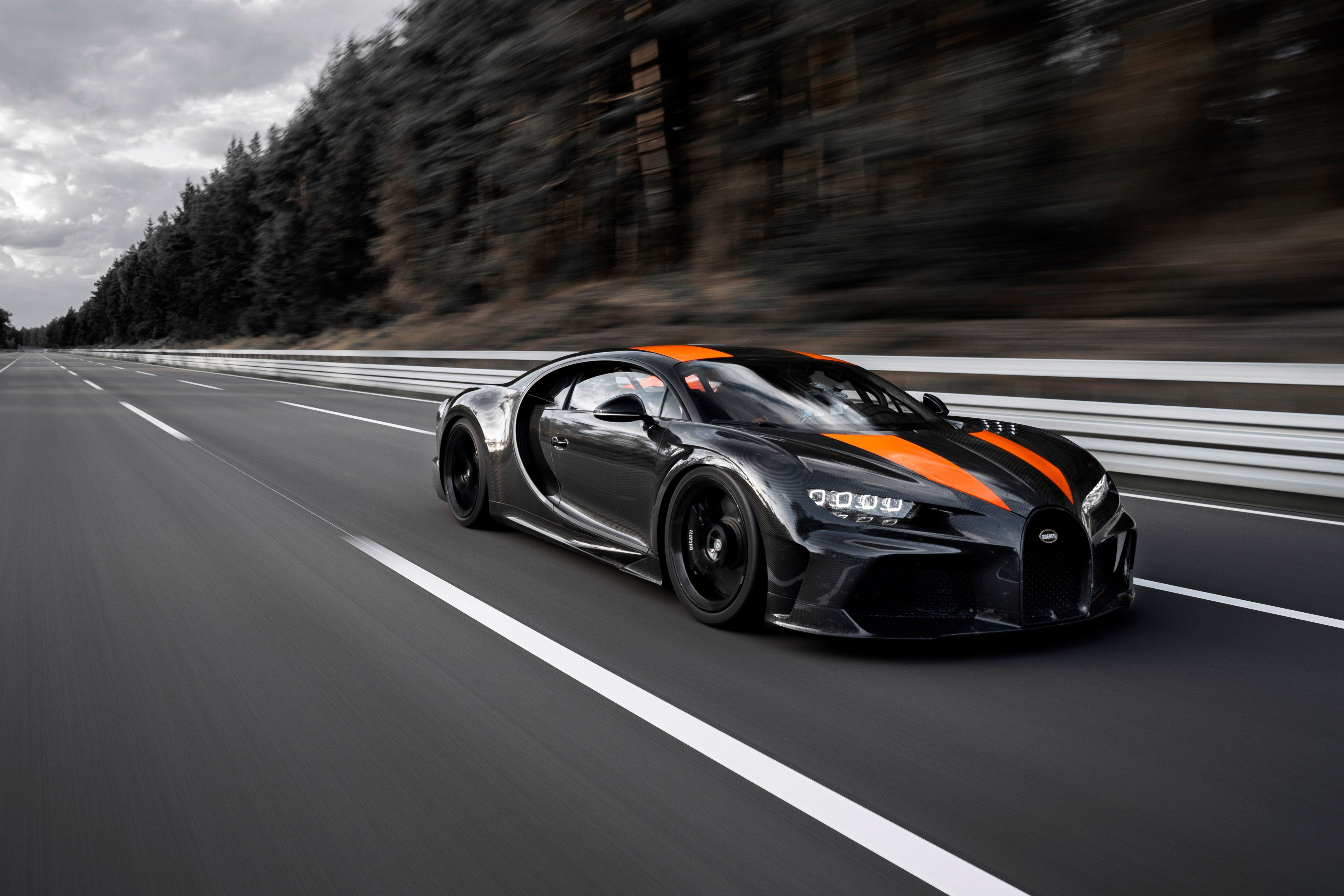 Bugatti: 304-MPH Chiron Would've Been Faster on Nevada Highway Koenigsegg Used