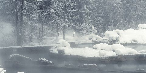 Medical Myth Busters: Woman sitting by frozen river