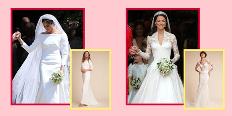 Gown, Dress, Wedding dress, Clothing, White, Shoulder, Bridal clothing, Bride, Pink, Bridal party dress,