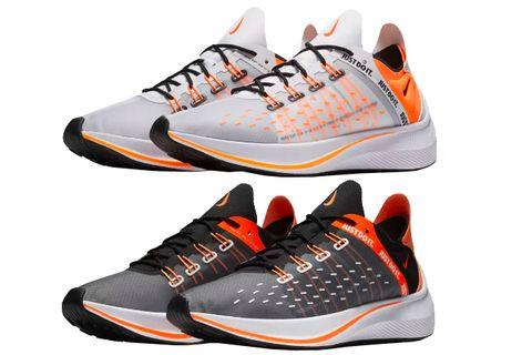 Shoe, Footwear, Sneakers, Orange, White, Outdoor shoe, Running shoe, Walking shoe, Athletic shoe, Font,
