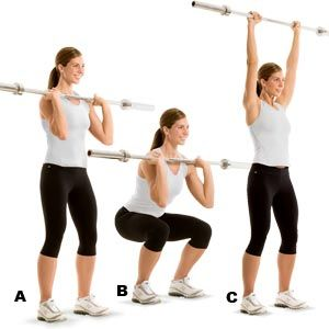 A  Front Squat and Push-Press Combo