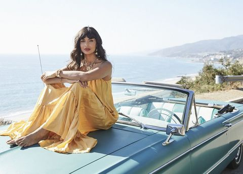 Photo of Jameela Jamil  - car