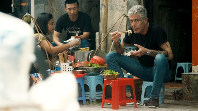 anthony bourdain stars in morgan neville's documentary, roadrunner, a focus features release courtesy of cnn  focus features
