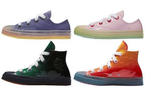 Footwear, Shoe, Sneakers, Plimsoll shoe, Font, Outdoor shoe, Athletic shoe, Carmine, Sportswear, Brand,