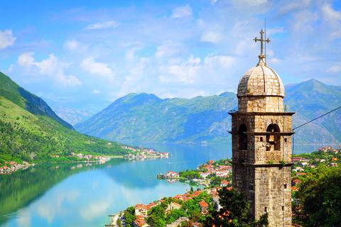 Elevated view over Kotor's Stari Grad, Montenegro