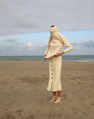 Covid-19 patterned Sundress Coronavirus Upcycled Redesigned  Dress sz M OOAK