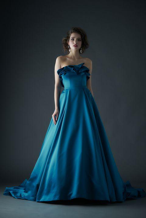 ギャレリアコレクションのディープカラードレス