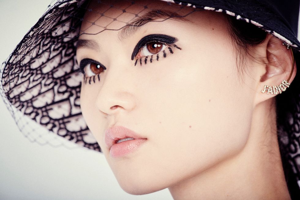 Spotted Backstage at Dior: Anime Twiggy Liner and a Genius Trick for Low Ponytails