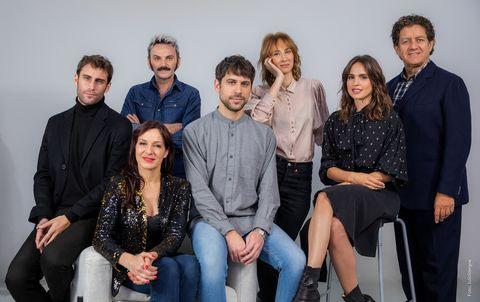 Fernando Guallar, Natalia Millán, Fernando Tejero, Nacho Álvarez, Ingrid García-Jonsson, Verónica Echegui y Pedro Casablanc