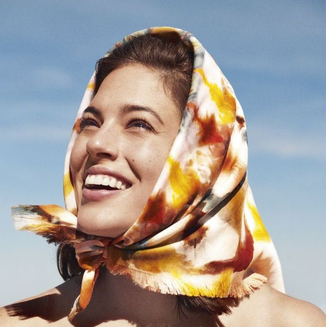pamela hanson harpers bazaar ashley graham silk floral scarf