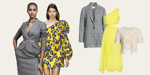 Clothing, Yellow, Fashion model, Dress, Day dress, Fashion, Shoulder, Sleeve, Pattern, Pattern,