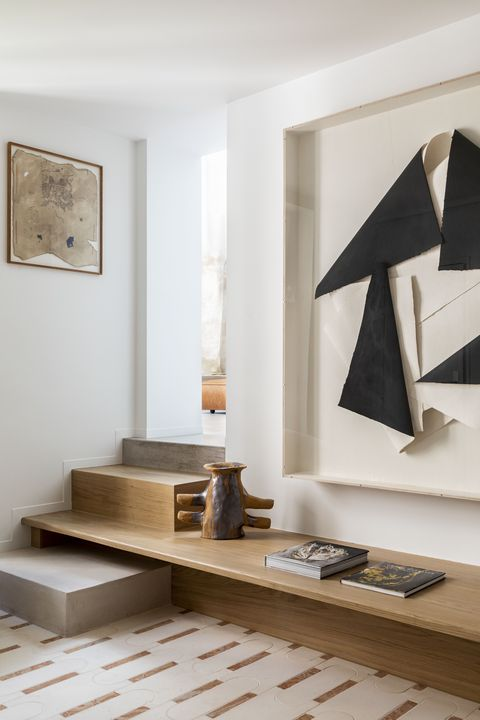Stair shelving designed by Batiik Studio
