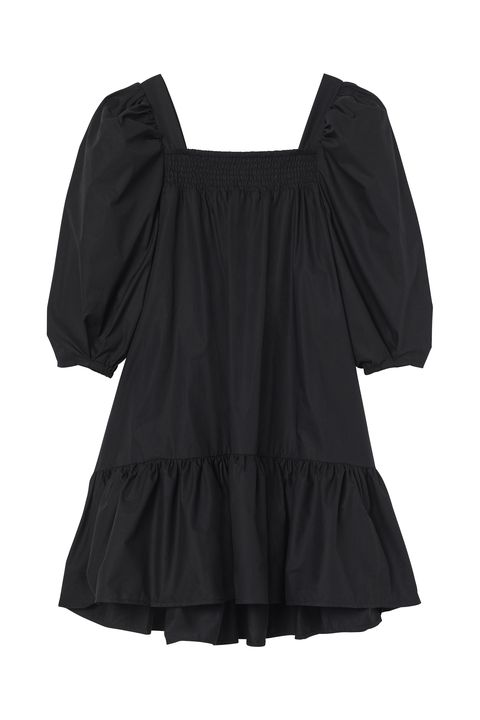 Clothing, Black, Sleeve, Blouse, Dress, Outerwear, Cocktail dress, Top,