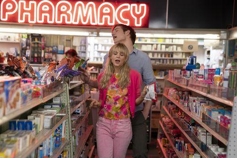 Carey Mulligan and Bo Burnham in a scene from