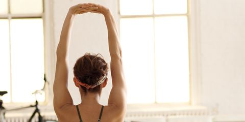Stress Relief: Woman Stretching