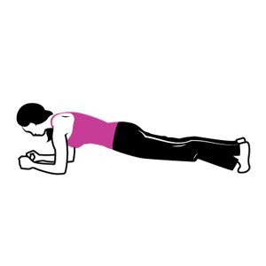 Best Workout for Abs: Plank with Glute Squeeze