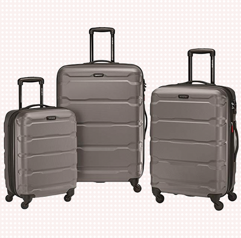 Suitcase, Bag, Hand luggage, Baggage, Luggage and bags, Rolling, Travel, Automotive wheel system, Wheel, Silver,