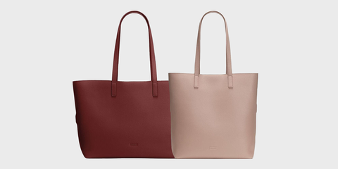 Handbag, Bag, Product, Brown, Fashion accessory, Leather, Tote bag, Pink, Font, Luggage and bags,