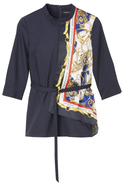 Clothing, Sleeve, Outerwear, T-shirt, Blouse, Top, Costume, Jacket, Shirt, Electric blue,