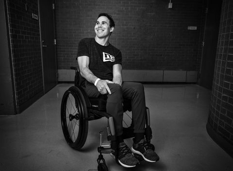 Black, Wheelchair, Sitting, Disabled sports, Monochrome, Black-and-white, Photography, Wheelchair sports, Flash photography, Wheel,