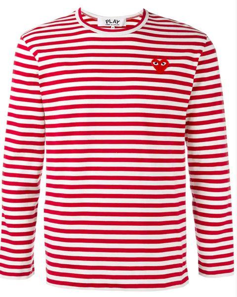 camiseta rayas con americana
