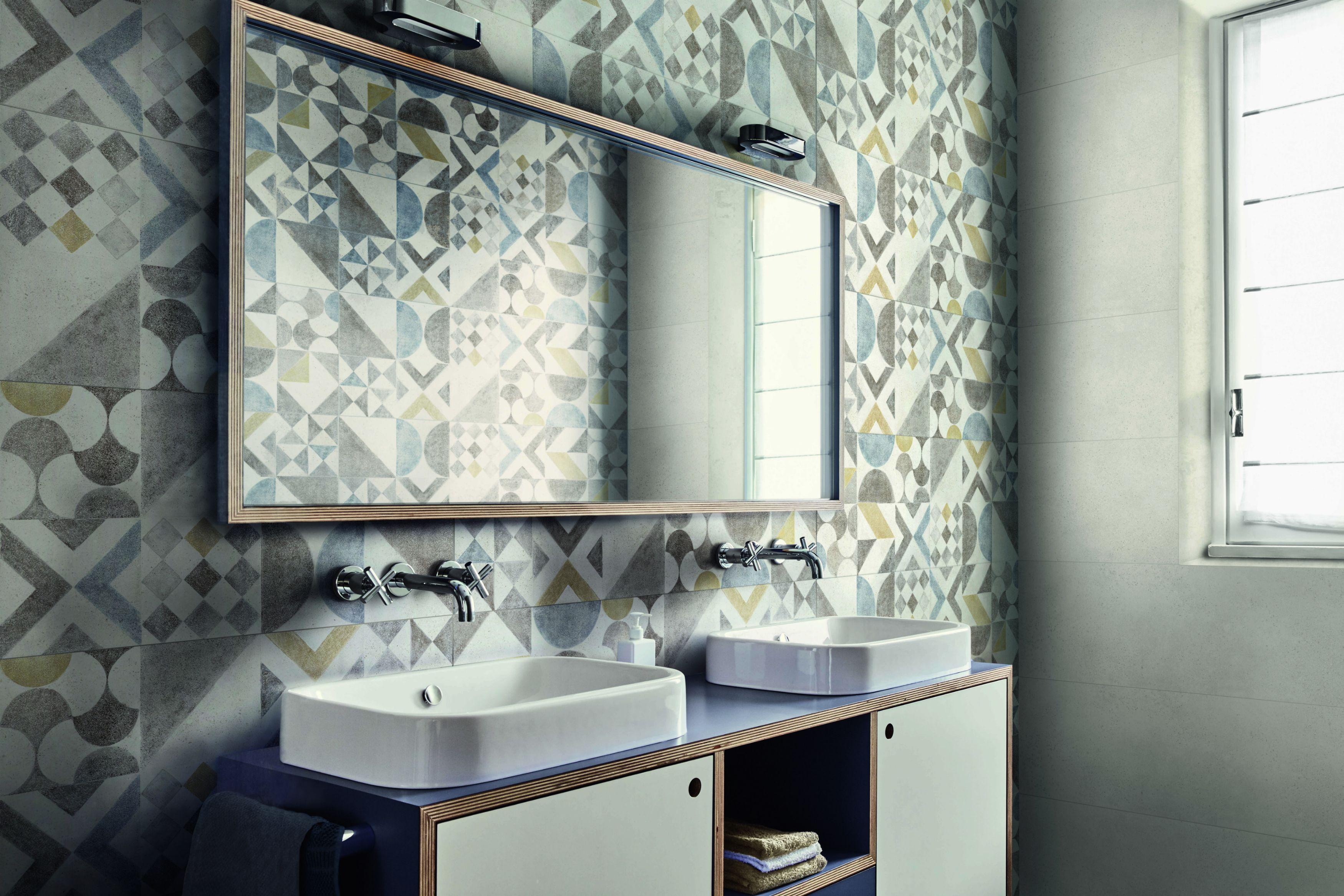 Piastrelle decorate novità per l arredo bagno