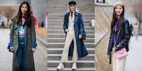 首爾時裝周街拍,穿搭,韓星穿搭,首爾街拍