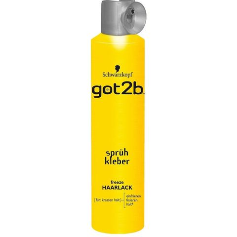 schwarzkopf got2b glued extreme freeze haarspray
